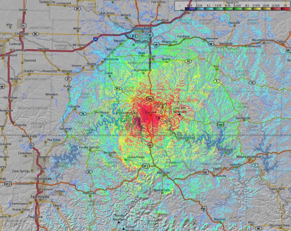 Coverage Map Branson Rptr Smlrs - Branson map pdf